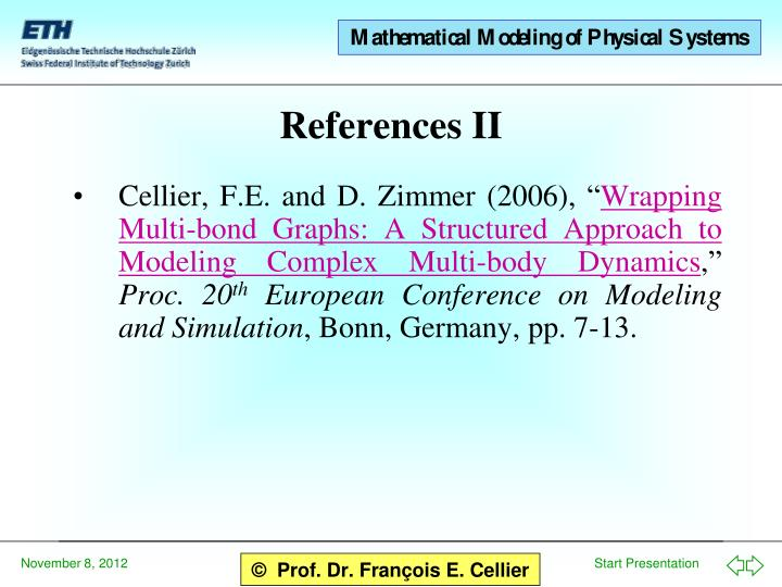"""Cellier, F.E. and D. Zimmer (2006), """""""