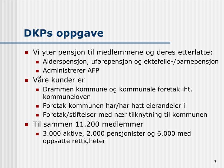 DKPs oppgave