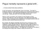 plague mentality represents a global shift