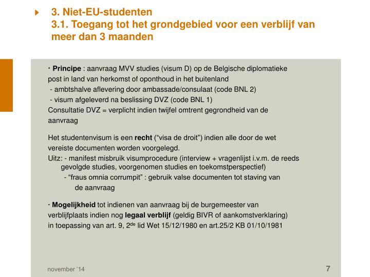 3. Niet-EU-studenten