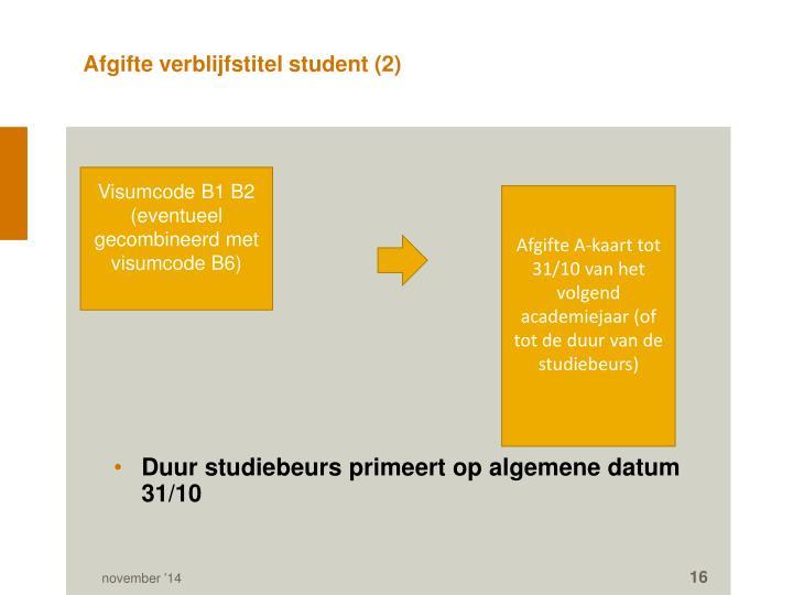 Afgifte verblijfstitel student (2)