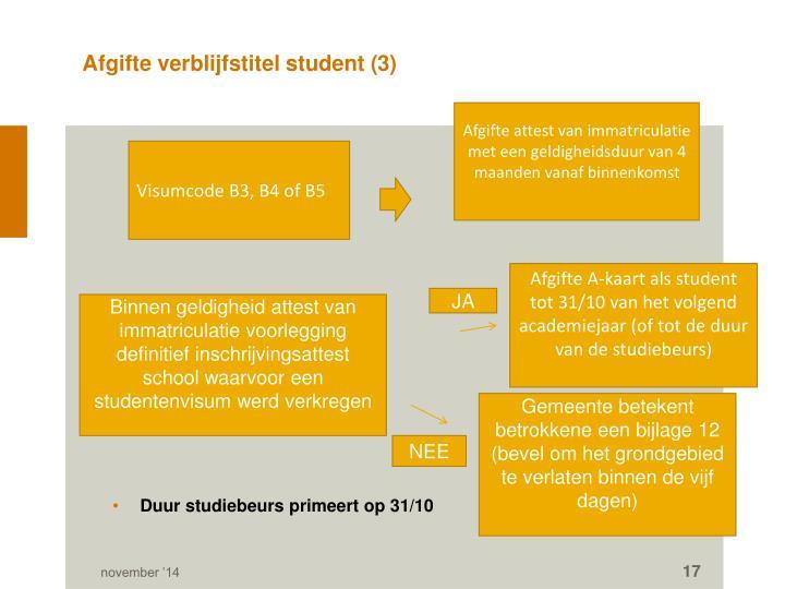 Afgifte verblijfstitel student (3)