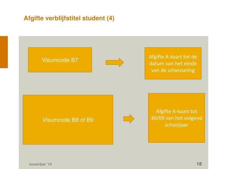 Afgifte verblijfstitel student (4)