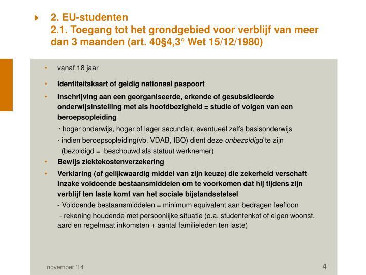 2. EU-studenten