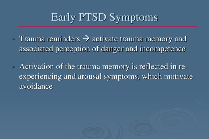Early PTSD Symptoms