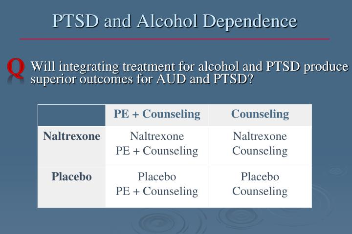 PTSD and Alcohol Dependence