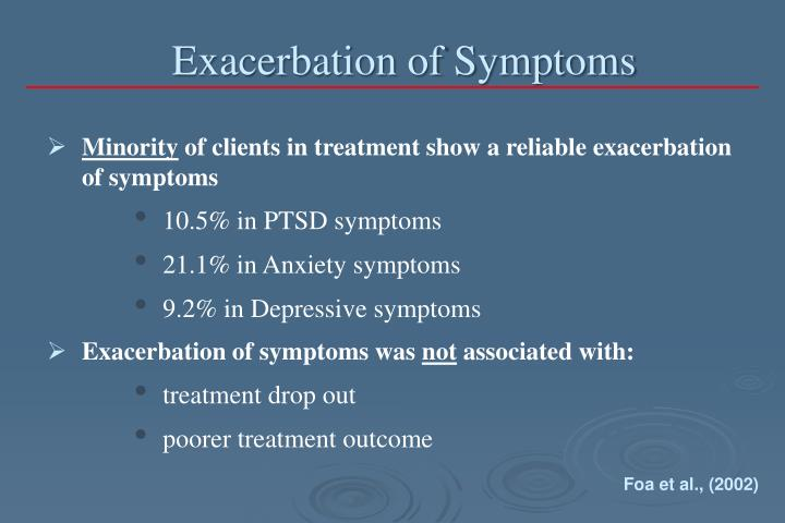 Exacerbation of Symptoms