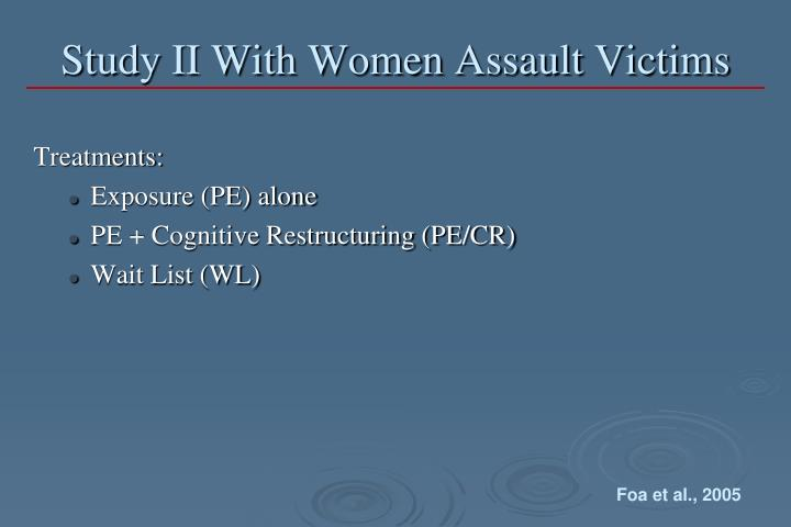 Study II With Women Assault Victims