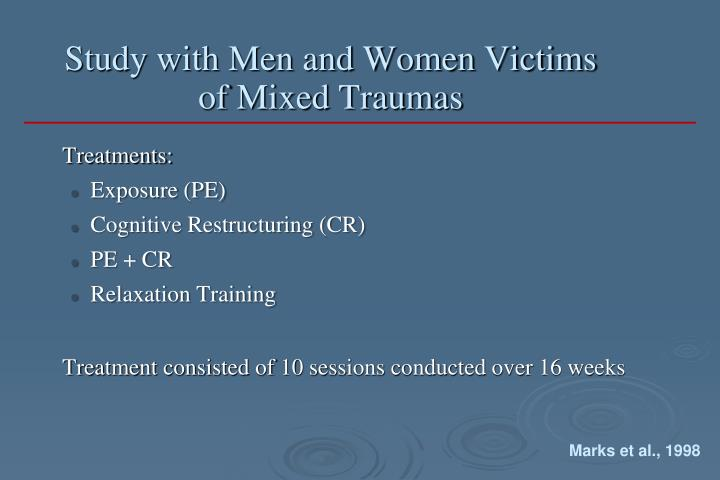 Study with Men and Women Victims