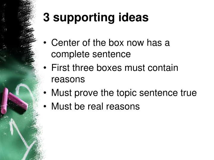 3 supporting ideas
