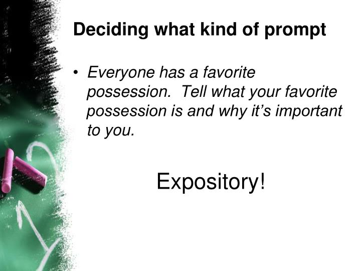 Deciding what kind of prompt