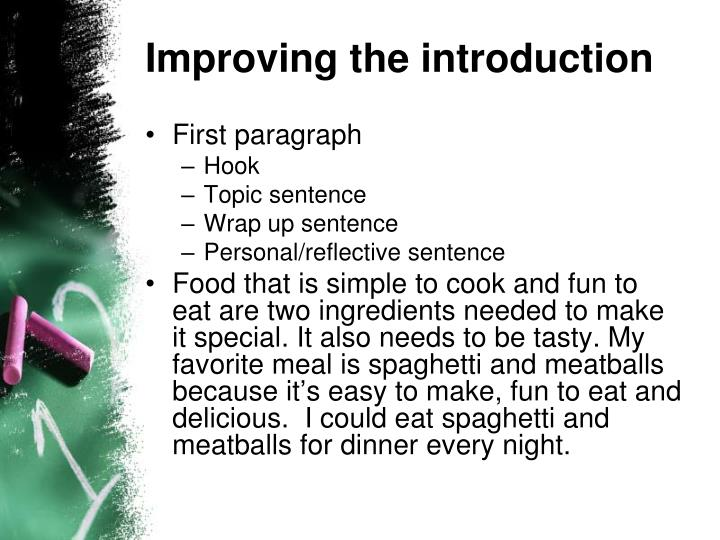 Improving the introduction