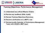 training objectives performance management3