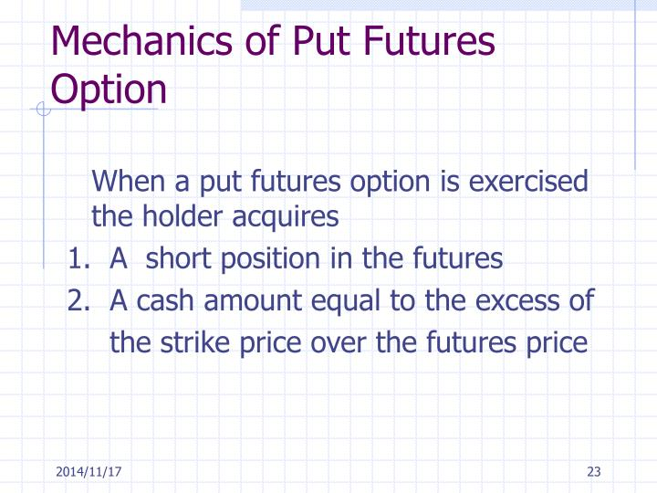 Mechanics of Put Futures Option