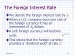 the foreign interest rate