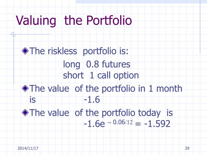 Valuing  the Portfolio