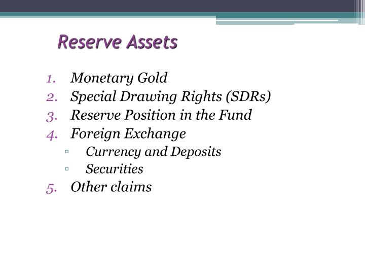 Reserve Assets