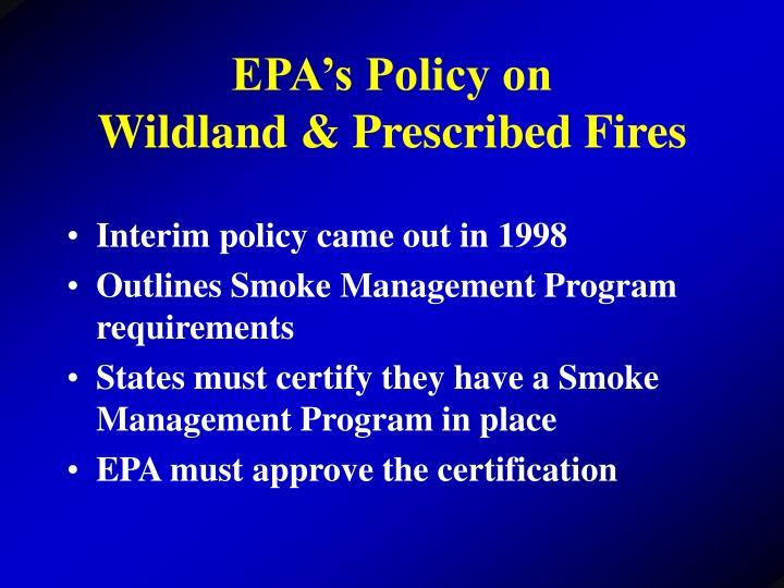 EPA's Policy on