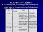 ncdfr smp objective