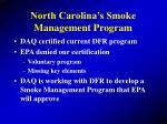 north carolina s smoke management program