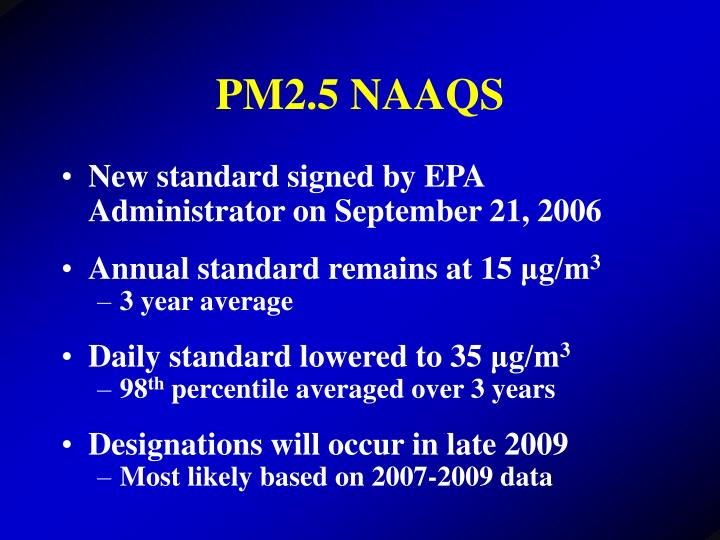 PM2.5 NAAQS