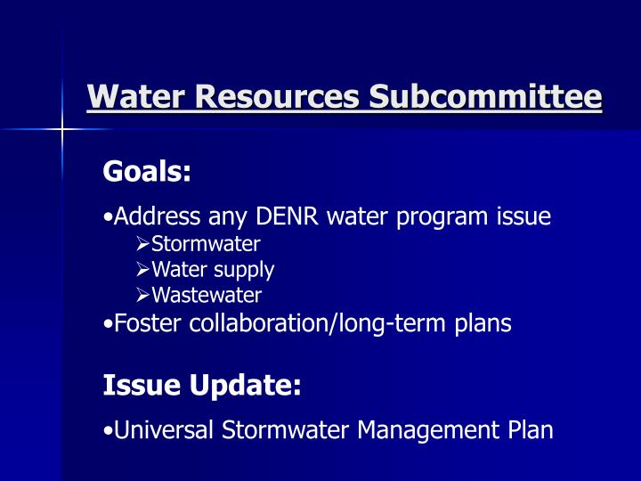 Water Resources Subcommittee