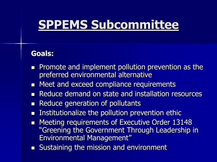 SPPEMS Subcommittee