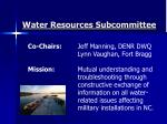 water resources subcommittee1