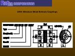 dkn miniature metal bellows couplings