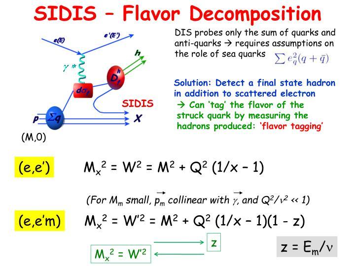 SIDIS – Flavor Decomposition