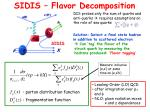 sidis flavor decomposition1