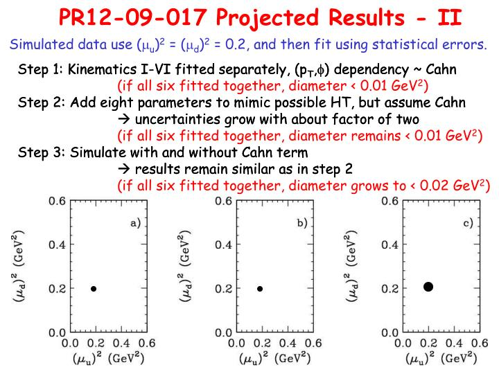 PR12-09-017 Projected Results - II