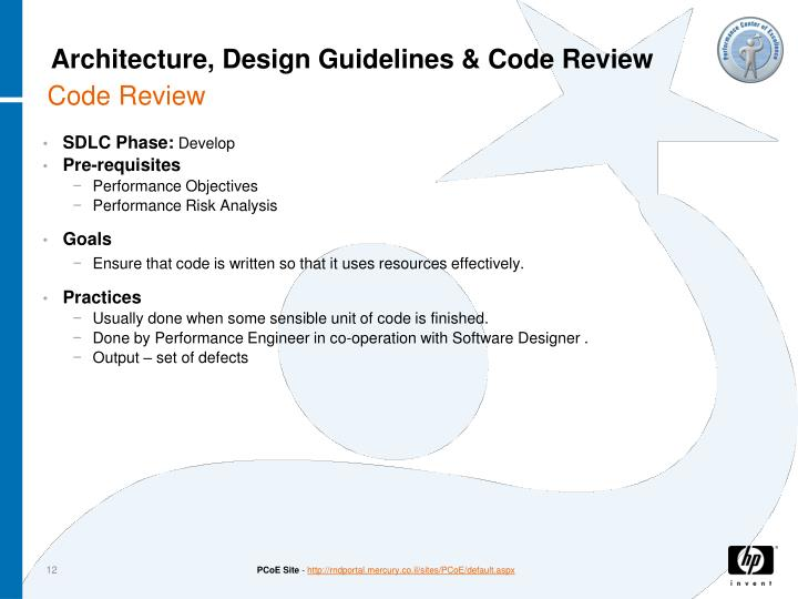 Architecture, Design Guidelines & Code Review