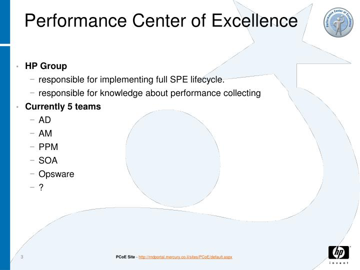 Performance Center of Excellence