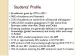 students profile