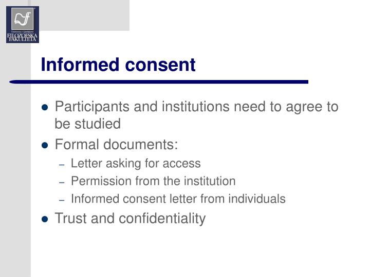 Informed consent