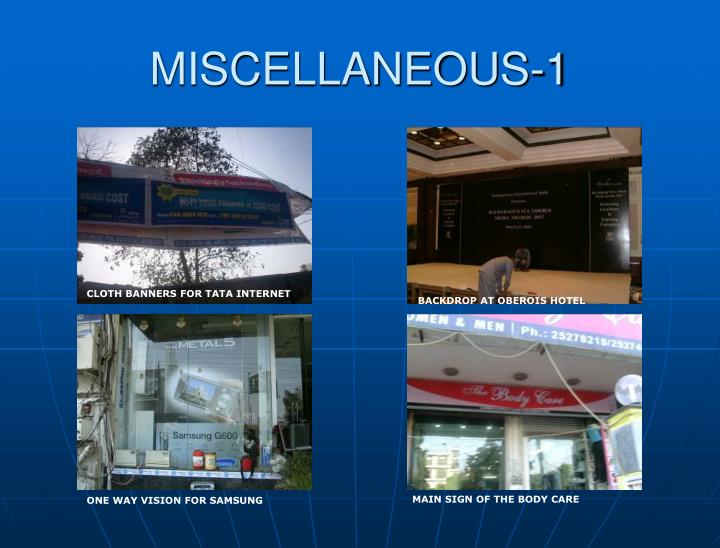 MISCELLANEOUS-1