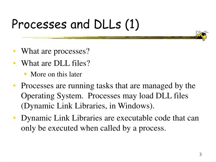 Processes and DLLs (1)