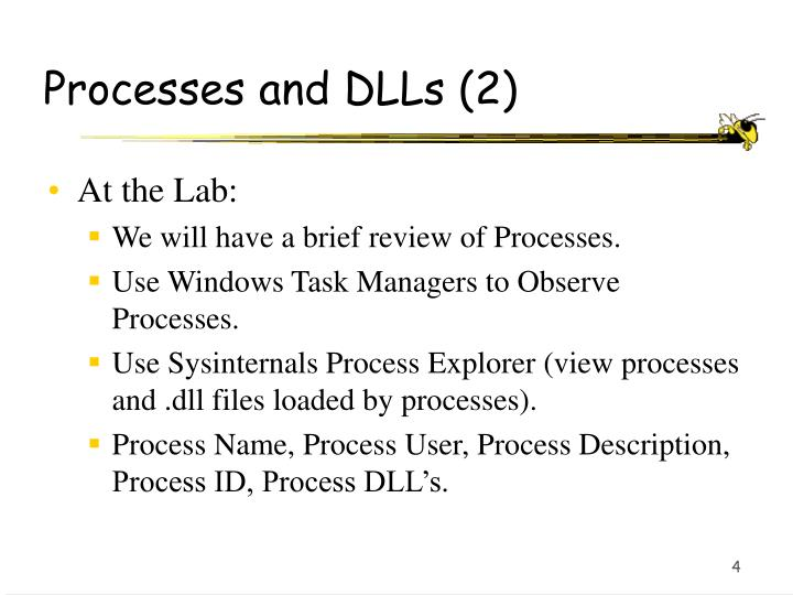 Processes and DLLs (2)