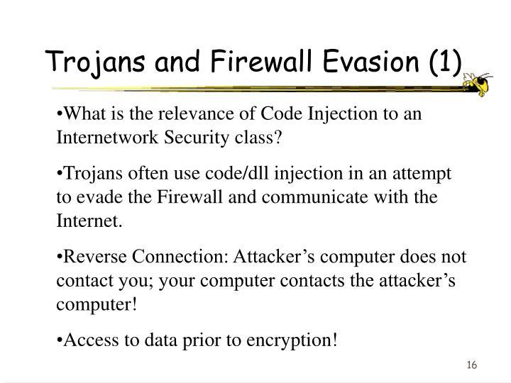 Trojans and Firewall Evasion (1)