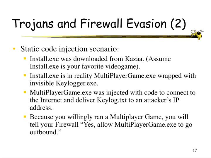 Trojans and Firewall Evasion (2)