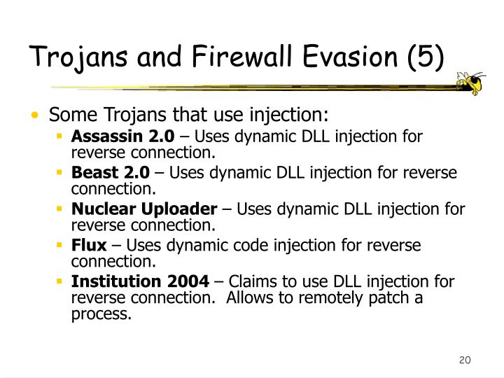 Trojans and Firewall Evasion (5)