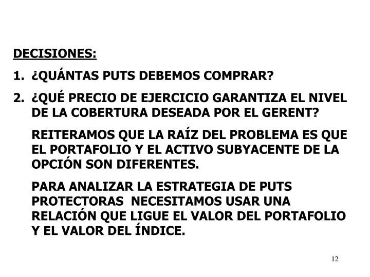 DECISIONES: