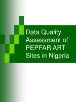 data quality assessment of pepfar art sites in nigeria