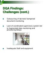 dqa findings challenges cont
