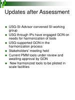updates after assessment