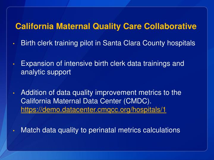 California Maternal Quality Care Collaborative