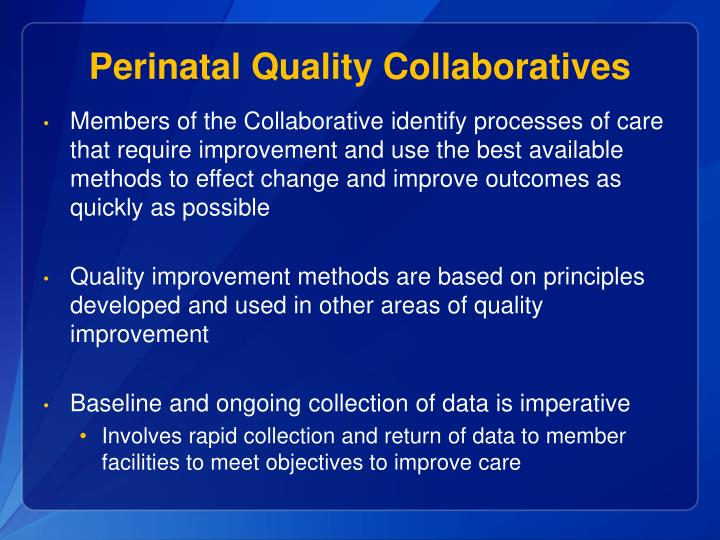 Perinatal Quality Collaboratives