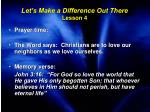 let s make a difference out there lesson 4