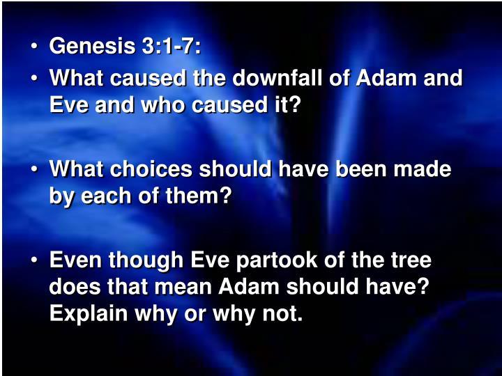 Genesis 3:1-7: